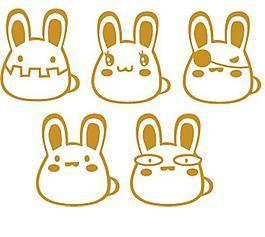 墙贴 卡通兔子 兔子表情图片