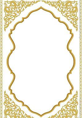 金色花紋 邊框圖片