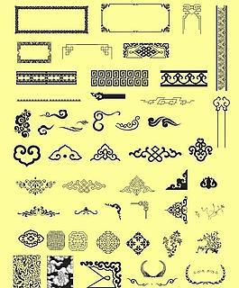 中国元素 花纹边框图片