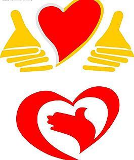 愛心logo愛心標志圖片
