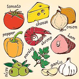 矢量水果图番茄矢量图食物矢量图