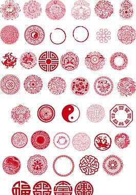 中國傳統圓形圖案