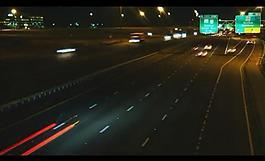 公路夜景視頻素材圖片