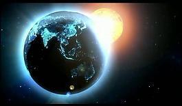 地球光效視頻素材圖片