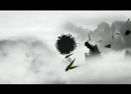 水墨畫風景視頻素材圖片