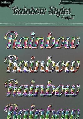 彩虹样式图片