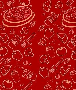 卡通背景 食物背景圖片