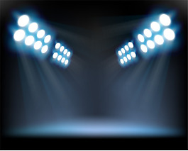 舞台聚光灯效果背景psd分层