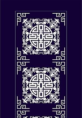 傳統中式花紋圖案矢量圖