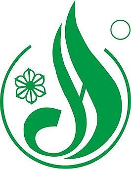 綠色商標logo設計矢量圖