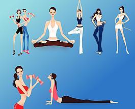 美女 健身 瑜伽瘦身圖片