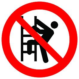 禁止攀爬楼梯标识
