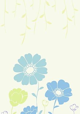 清新小花背景
