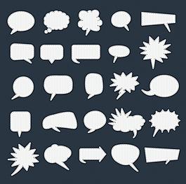 縫紉邊對話氣泡 對話框