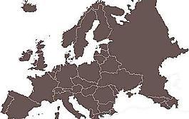 歐洲地圖矢量