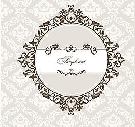 圓形花紋 底紋圖片