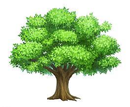 卡通樹木圖片