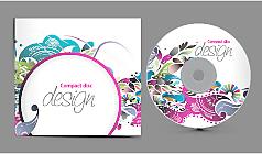 4 CD包装矢量