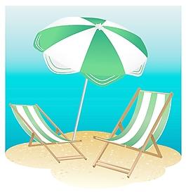 沙灘椅和陽傘