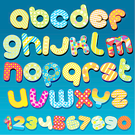 55系列矢量字體設計