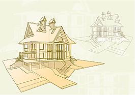 建筑系列矢量9