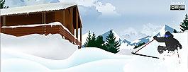 雪地矢量圖