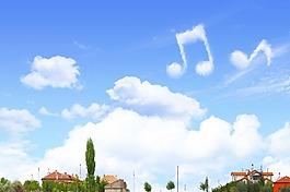 蓝天白云照片