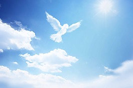 蓝天白云的图片