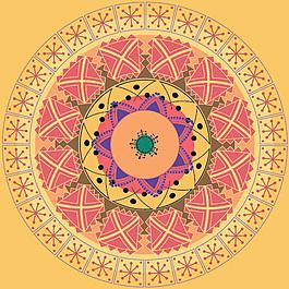 經典的圓形圖案矢量