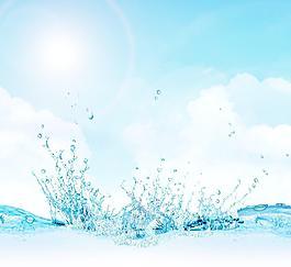水分层素材图片
