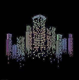 城市建筑夜景圖片