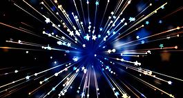 高清星光粒子散開LED視頻素材