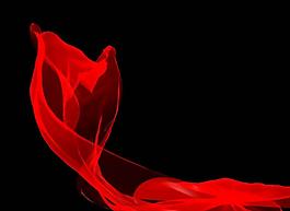 紅飄帶視頻素材絲帶視頻片頭