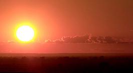 紅太陽冉冉升起視頻素材