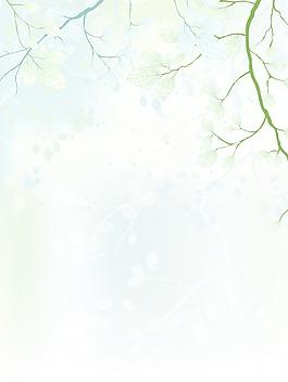 春天背景矢量插画