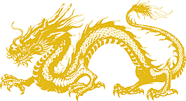手繪中國龍矢量圖