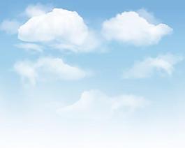 蓝天白云背景矢量素材1