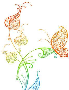 漂亮的蝴蝶花纹