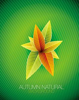矢量素材艺术创意树叶背景