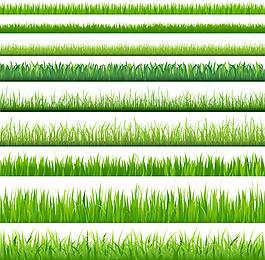 矢量素材綠色小草背景
