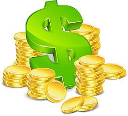 矢量金币钱元素