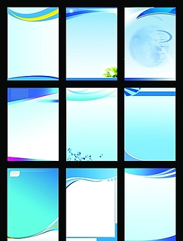精美藍色調企業展板背景設計PSD源文件