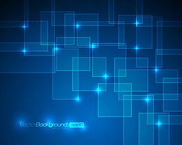 藍色科技背景矢量素材