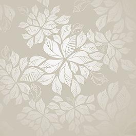 矢量淡雅樹葉花紋背景素材
