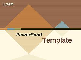 浅褐色简单色彩商务PPT模板