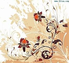 eps格式花紋