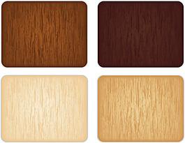 4种色彩木纹背景矢量图下载