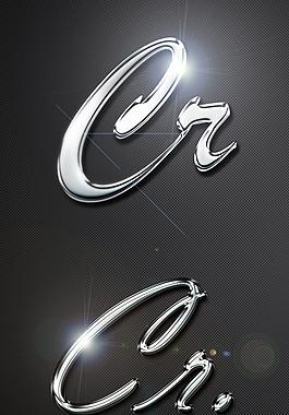 超酷金屬質感 字體樣式
