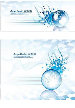 商務金融藍色畫冊背景