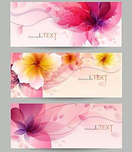 梦幻花纹花朵 横幅图片